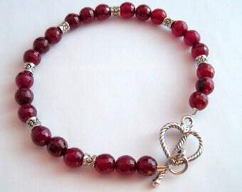 Ruby Agate Bracelet