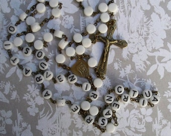 Vintage Italian Rosary Beads - Souvenir Rosary