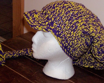 LSU team colored Scarf and hat combo