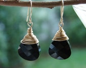 Black and Gold Earrings (Free US Shipping)