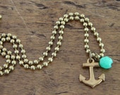 Nautical Anchor Necklace (Free US Shipping)