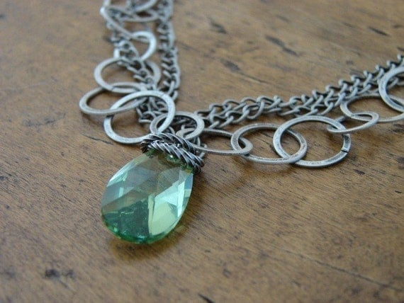 Antiqued Peridot Necklace (Free US Shipping)
