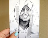 Art Card - Oriental Portrait - Wafa