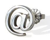 EMAIL Internet Earring At sign for MEN Sterling Silver  Contemporary - one earring only
