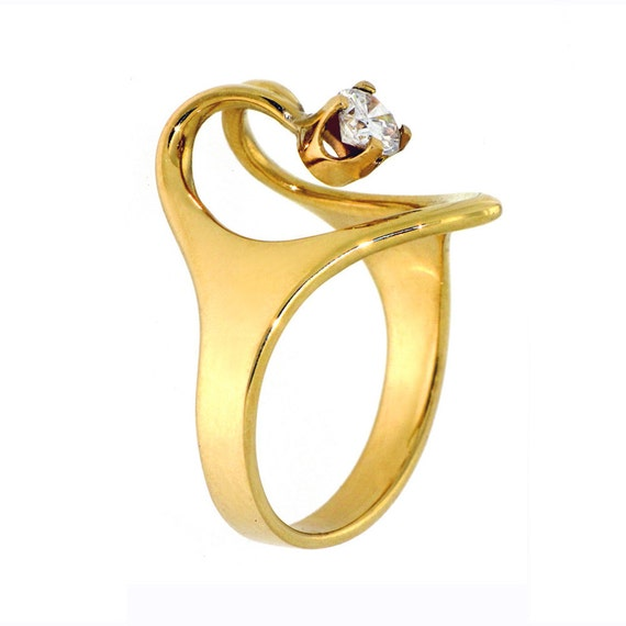Items Similar To Isis Diamond Engagement Ring 18k Gold Ring Egyptian Custom Ring Fine Jewelry