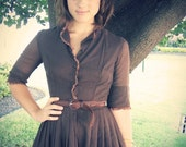 1950's Quiet Picnic Dress