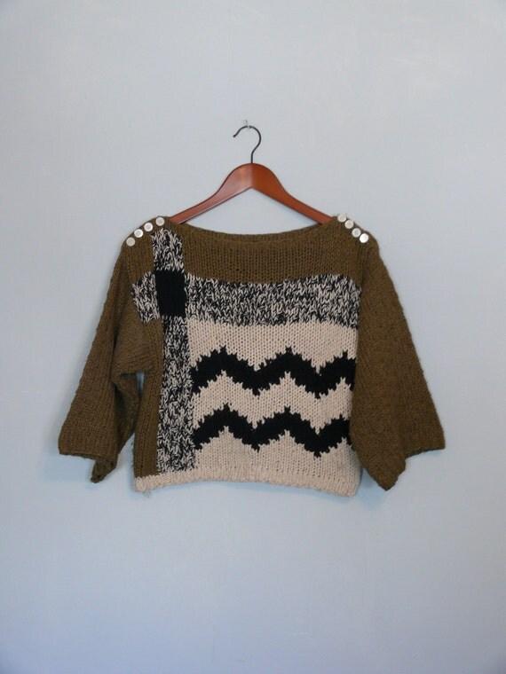 Vintage sweater // Silk 80s Graphic