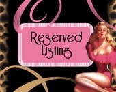 Reserved Listing for Candice