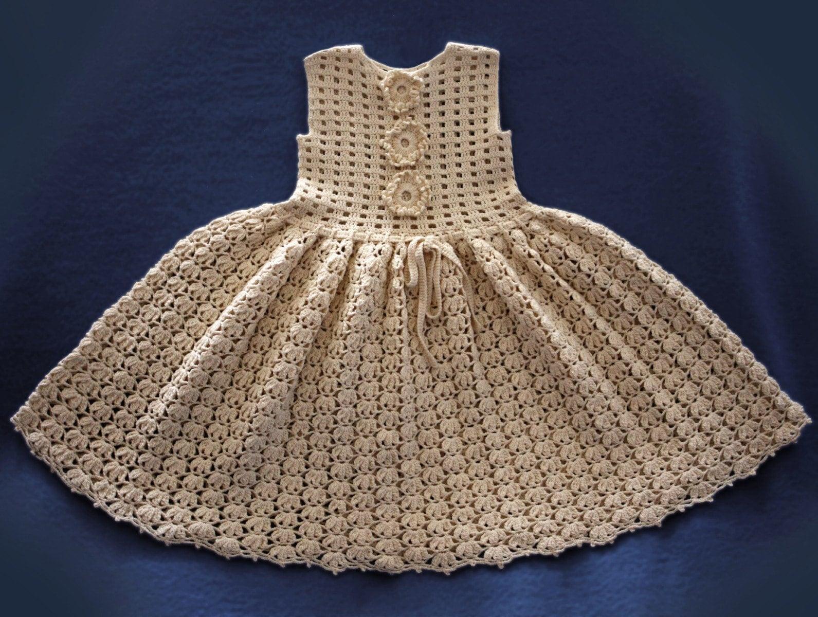 Vintage Crochet Baby Dress Pattern : Baby Dress Crochet Pattern / Vintage by Illiana on Etsy