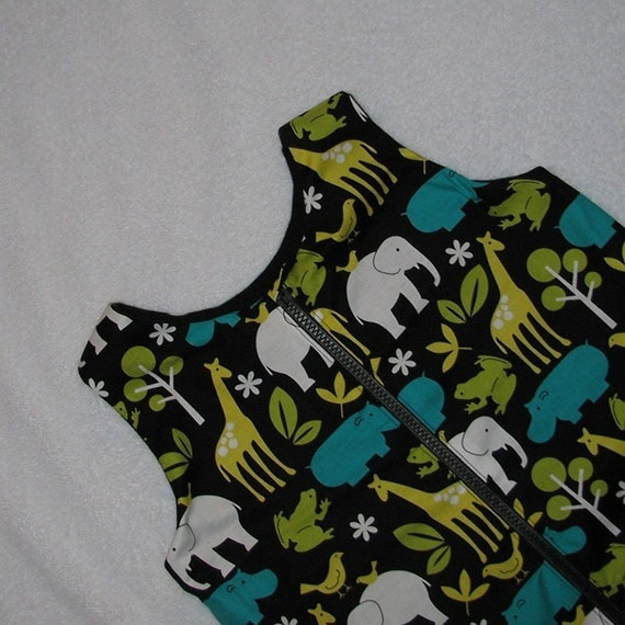 12-24 month winter sleep sack in lagoon zoo animals- ready to ship