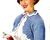 Girl Shrug Sweater Knitting Pattern 726050