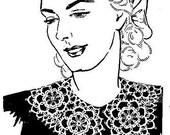 Collar Tatting Pattern Vintage EASY 729011