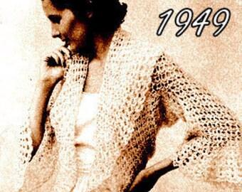Fabulous Lacy Shrug Jacket Crochet Pattern 723061