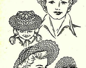 Mother and Daughter Hats (4) Crochet Pattern 723117