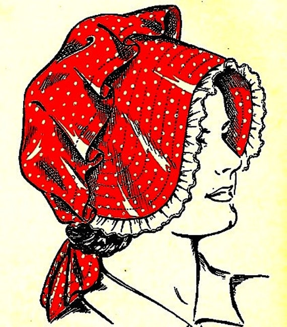 How to Make a Vintage Sunbonnet Pattern - Sz Woman to Child 727003