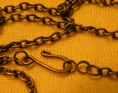Antiqued Brass 32 inch Vintage Style Necklace Chain Blank 5 pack