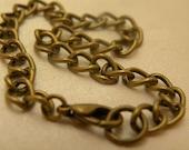 Antiqued Brass Charm Bracelet Blank
