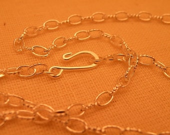24 inch Silver Plate Chain Blank Vintage Style