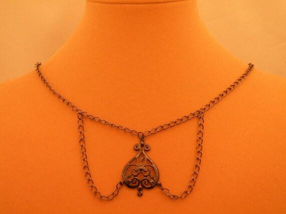 GunMetal Black Steampunk Victorian Necklace Blank