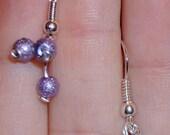 X3 Purple Ball Earrings