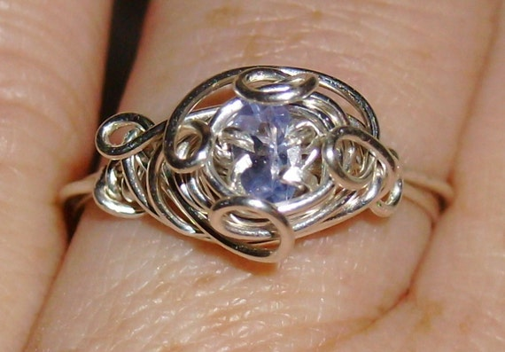 Natural Tanzanite Ring Size 7