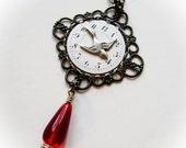 Bird Necklace, Watch Necklace, Steampunk Jewelry