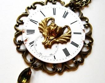 Steampunk Necklace Steampunk Watch Steampunk Jewelry