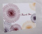 Flower Garden Set of Six Thank You Cards