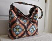 Ava Slouch Bag with Jessica Levitt's Dogwood Fabric