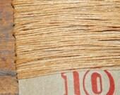 10 yards BUTTERSCOTCH waxed Irish linen thread
