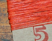 5 yards ORANGE waxed Irish Linen Thread