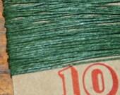 10 yards DARK EMERALD GREEN waxed Irish linen thread