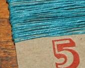 5 yards TEAL waxed Irish linen thread