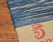5 yards BLUE waxed Irish linen thread