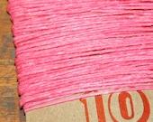 10 yards PINK waxed Irish linen thread