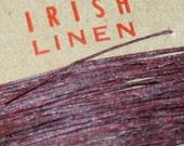 25 yards of MAROON waxed Irish linen thread