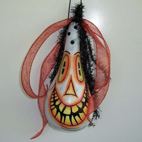 HAPPY HALLOWEEN Gourd Ornament Mihaly Haunted MHA
