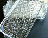 Vintage Clear Glass Appetizer Dishes X4