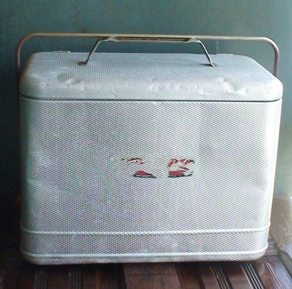 RESERVED for Hannah Lynn - Vintage Aluminum Ice Chest