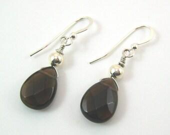 Smoky Quartz Earrings (E47)