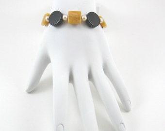 Onyx and Citine Bracelet (B137)