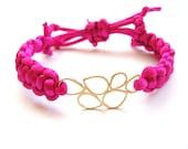 Neon Fuchsia Friendship Bracelet -Free Shipping