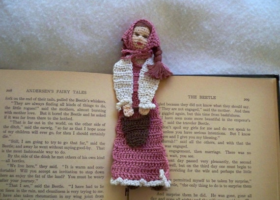 crochet bookmark jill with pail