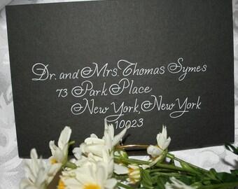 Calligraphy Wedding Envelope Addressing, Discount Wedding Special, Francine Script
