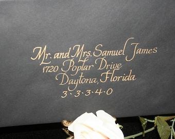 Calligraphy Wedding Envelope Addressing, ITALICS, Envelope Calligraphy