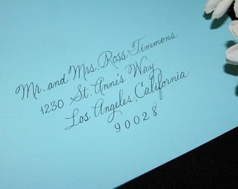 Wedding Calligraphy Envelope Addressing, Social Handwriting