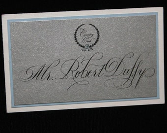 Calligraphy for Place Cards, Escort Cards, Calligraphy by Hand, Script Style