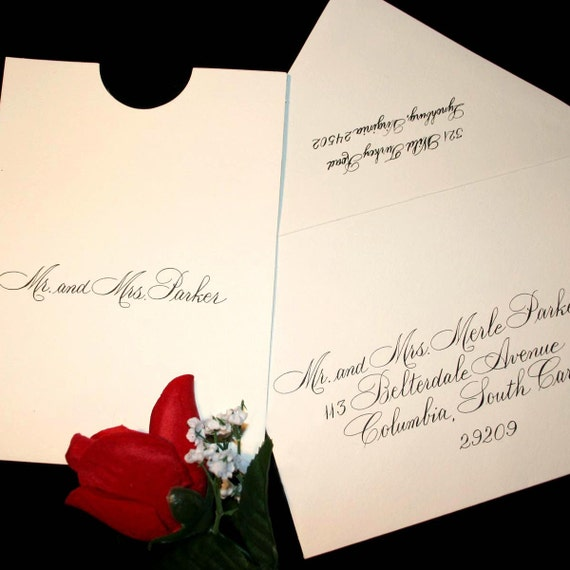Calligraphy Wedding Envelope Addressing By Artfulcelebrations