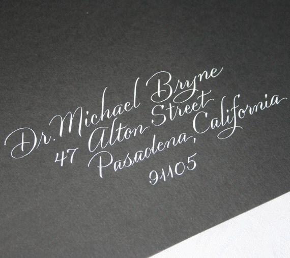 Wedding Calligraphy Envelope Addressing, Calligraphy Service,  Informal Script