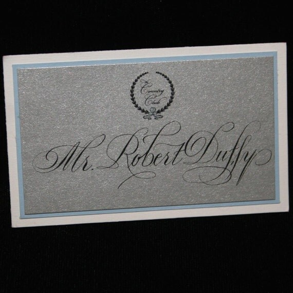 Calligraphy for place cards escort by